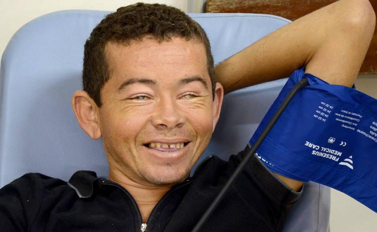 Leiton é paciente da unidade de hemodiálise localizada no HGP, e faz questão de destacar o cuidado e a atenção que sempre recebe