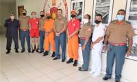 Subtenentes se reúnem com o comando do CBMTO e tratam de Curso de habilitação de Oficiais