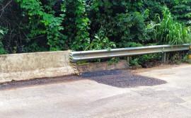 Governo do Tocantins conclui correção de erosão em cabeceira de ponte sobre o córrego Cipó, na TO-342, entre Miracema e Miranorte