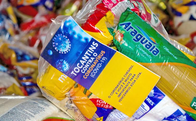 Kits de alimentos serão entregues para cerca de 16 mil famílias de alunos da rede municipal de Araguaína
