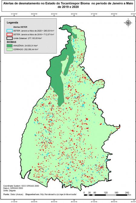 Mapa de Alerta de Desmatamento