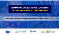 Comissão Europeia lança conjunto de chamadas emergenciais para pesquisas com foco nas variantes do coronavírus