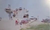 Bombeiros militares encontram corpo da vítima de afogamento no porto da Balsa em São Miguel do Araguaia -TO