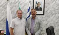 Secretário Tom Lyra recebe Eduardo Machado para tratar de assuntos relacionados a investimentos no Tocantins