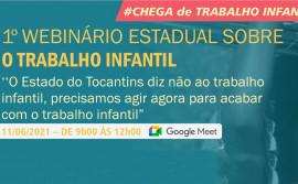 Governo do Tocantins promove debate sobre trabalho infantil em webinário