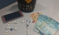 Polícia Militar prende jovem suspeito de tráfico e apreende drogas em Dianópolis