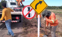 Governo do Tocantins realiza revitalização de sinalização em rodovias estaduais