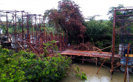Governo do Tocantins realiza obras de construção de ponte sobre o Córrego Arrainha, entre Palmeirante e Nova Olinda