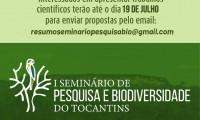 É prorrogado o prazo de envio de Trabalhos para o I Seminário de Pesquisa e Biodiversidade