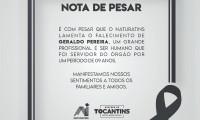 Nota de pesar pelo falecimento de Geraldo Pereira