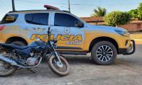 PM recupera motocicleta na região norte do Estado