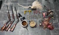 BPMA apreende armas de fogo e animais abatidos na região sudeste do Estado