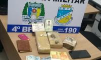 Suspeito de tráfico é preso e mais de um quilo de maconha apreendida pela PM em Crixás
