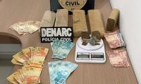 Em Araguaína, Polícia Civil apreende quase 5 kg de maconha e prende três pessoas suspeitas por tráfico de drogas