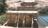 Obra de construção da ponte sobre o Córrego Dantas, em Pindorama, avança mais uma etapa