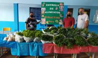 Em Santa Maria 320 famílias recebem a doação de 6,1 toneladas de alimentos da agricultura familiar