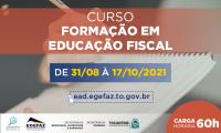 Curso de Formação em Educação Fiscal direcionado aos membros do GEEF começa nesta terça, 31