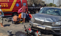 Gurupi: após colisão com veículo, motociclista é atendido por bombeiros militares