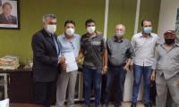 Deputado Amélio Cayres visita Itertins com lideranças da cidade de Goiatins