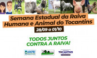 Saúde e Adapec promovem Semana Estadual da Raiva Humana e Animal do Tocantins