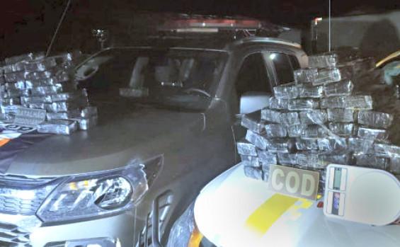 Polícia Militar prende traficante que transportava 70 kg de maconha na BR-153