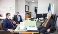 Presidente do TJTO recebe visita do novo procurador-geral do Estado