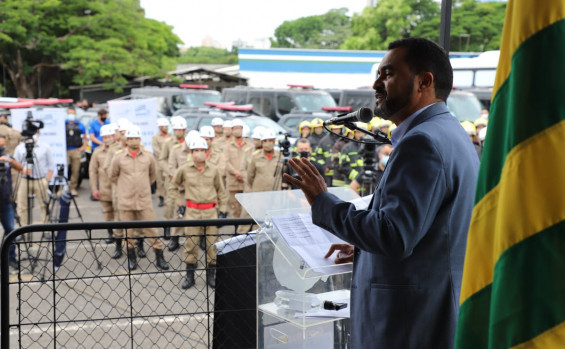 Vice-governador do Tocantins Wanderlei Barbosa participa de evento em Goiás que homenageou integração das forças de segurança