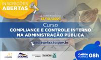 Curso Compliance e controle interno na administração pública começará dia 18 de outubro