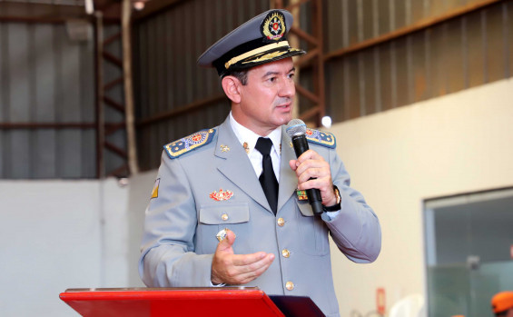 Vice-governador Wanderlei Barbosa preside passagem de comando do Corpo de Bombeiros do Tocantins