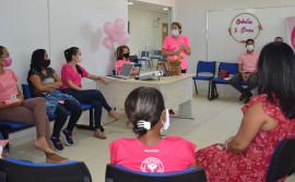 Cidadania e Justiça realiza palestra sobre prevenção do câncer de mama e de colo de útero para egressas do Sistema Penal