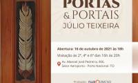 Governo do Tocantins apoia exposição Portas e Portais e oficinas do artista portuense Júlio Teixeira