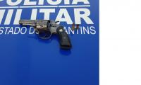 Polícia Militar prende em flagrante homem por porte ilegal de arma de fogo em Lagoa da Confusão.