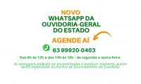Governo do Tocantins disponibiliza novo número de WhatsApp da Ouvidoria-Geral do Estado