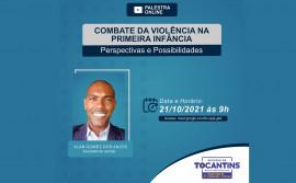 Seciju promove palestra on-line em alusão ao combate da violência na primeira infância