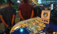 PM prende três pessoas acusadas de roubo em uma loja em Augustinópolis