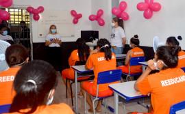 Seciju e Semus realizam ações da Campanha Outubro Rosa com custodiadas da Unidade Penal Feminina de Palmas