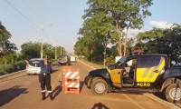 Durante ação de apoio no controle de tráfego na ponte de Porto Nacional, agentes de trânsito recuperam moto com restrição de furto/roubo