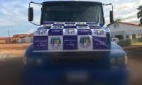 Caminhão roubado em Presidente Dutra-MA foi localizado pela PM em Aguiarnópolis