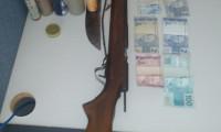 Polícia Militar prende indivíduo que ameaçava família com arma de fogo em Novo Jardim