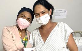 Puérperas e gestantes do Hospital Dona Regina recebem kits bucais