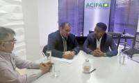 Presidente da Jucetins realiza visita institucional à Acipa