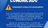AVISO IMPORTANTE: Atendimento na Jucetins em Palmas é feito apenas por agendamento