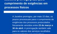 Jucetins prorroga prazo para cumprimento de exigências dos processos vencidos entre 23 de março e 30 de abril