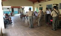 A Banda de Música da Polícia Militar realiza tocatas natalinas em diversos pontos de Araguaína