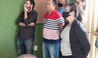 Membros do Judiciário, Ministério Público e empresários conhecerem o sistema de videomonitoramento em Araguatins