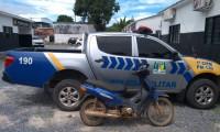 PM recupera motocicleta receptada na Rodovia TO-050