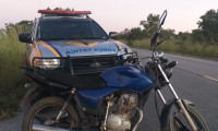 Polícia Militar recupera moto furtada em Arraias