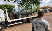 Fiscais da ATR autuam veículo por transporte irregular de passageiros